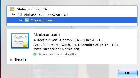 SSL Zertifikat Bubcon